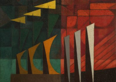 Paisaje, 1953, oil on canvas, 28×36″