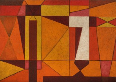 Formas en la luz, 1955, oil on canvas, 22×32″