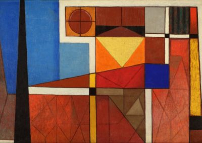 Amanecer, 1955, oil on canvas, 24×36″