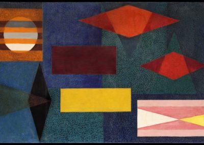 Plenilunio, 1953, oil on canvas, 30×50″