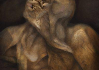 Angustia del olvido, 1996, oil on canvas, 36×40″