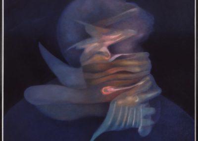 Cabeza hechizada, 1994, oil on canvas, 54×50″