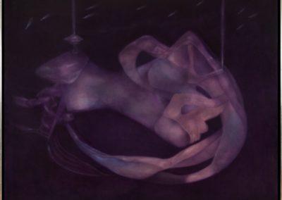 En pos de la noche, 1989, oil on canvas, 40×50″