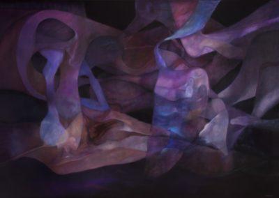 Espejismos de agua, 1990, oil on canvas, 68×98″