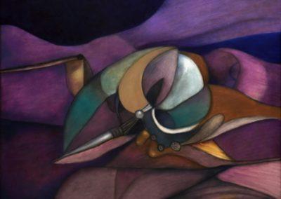 Flor de agua, 2000, oil on canvas, 40×50″