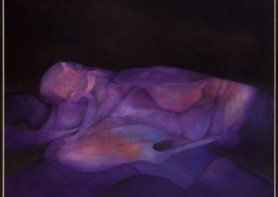 Frente al infinito, 1992, oil on canvas, 50×60″