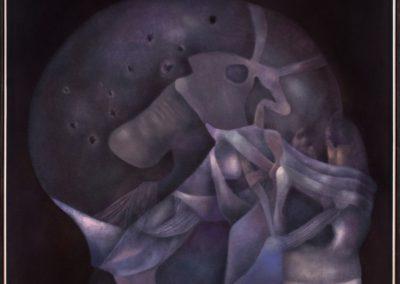 Quinto milenio, 1988, oil on canvas, 54×50″
