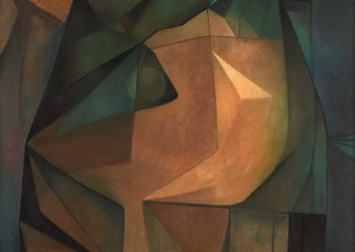 Cabeza de una reina mística, 1967, oil on canvas, 31×26″