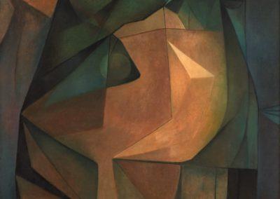 Cabeza de una reina mística, 1967, oil on canvas, 31×26″