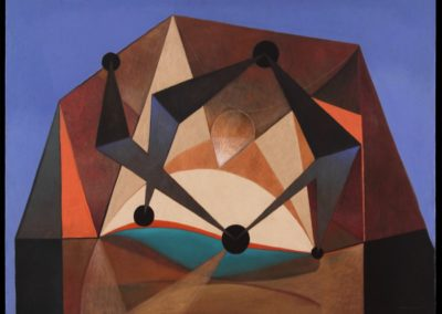 Danzarines, 1969, oil on canvas, 40×50″