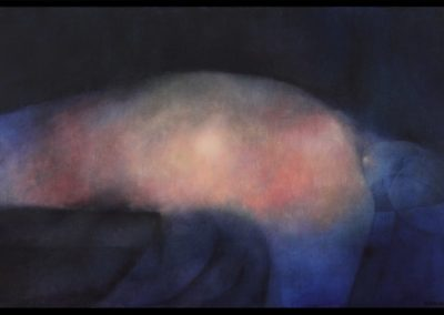 El ángel dormido, 1978, oil on canvas, 24×40″