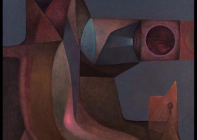 El centinela, 1978, oil on canvas, 40×36″
