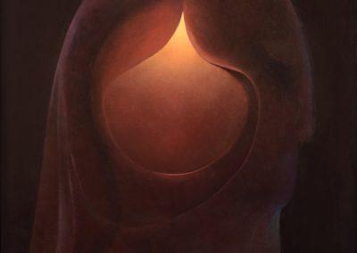 El profeta, 1969, oil on canvas, 40×30″