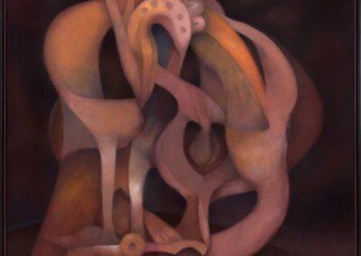El vigía del estío, 1995, oil on canvas, 60×50″