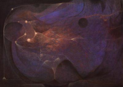 Las alas del viento, 1976, oil on canvas, 30×40″