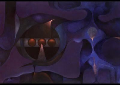 Más allá del azul, 1978, oil on canvas, 30×50″