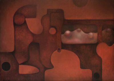 Mecanismo espacial, 1972, oil on canvas, 30×40″