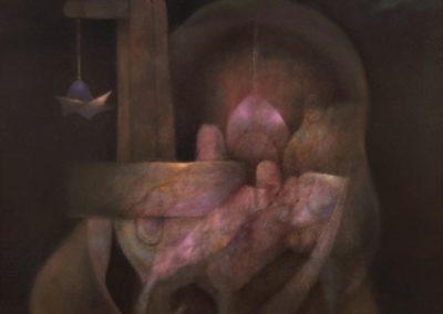 Mística señal, 1993, oil on canvas, 30×40″
