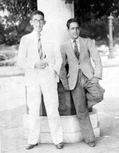 1937- Soriano as a teenager at 17 yrs old (on right), April 29