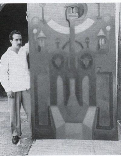 1940s of Soriano photographed Estrada a lo desconocido, oil on wood