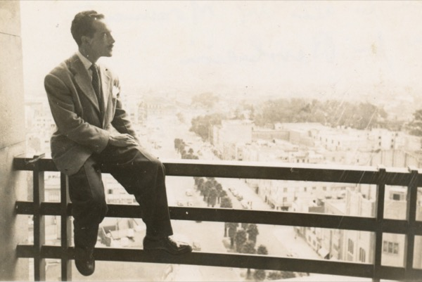 1947 - Rafael Soriano in Mexico City in the summer of 1947. He was sent to study the muralist by the Minister of Education