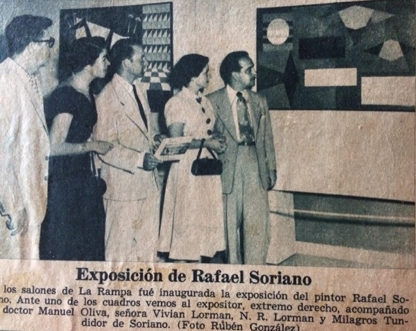1947 - Rafael and Milagros at an Exhibition at the salones de La Rampa