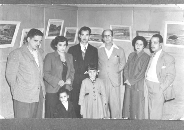 1950s - Rafael and Milagros Soriano at Matanzas Gallery 1950s