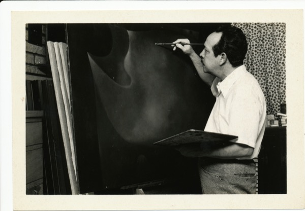 1980s - Soriano in his early 60s in his studio in Miami, FL