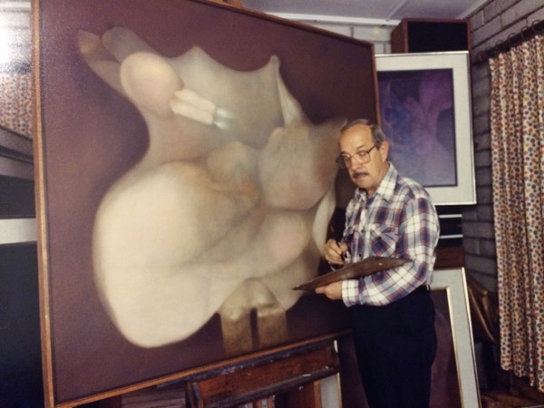 1990s - Soriano in his Miami studio