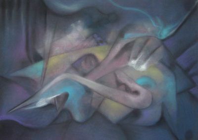 Untitled, Pastel on paper, 22x30, 1995