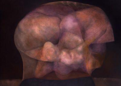 "La vigilia de un rostro,1990, oil on canvas, 50x60"""