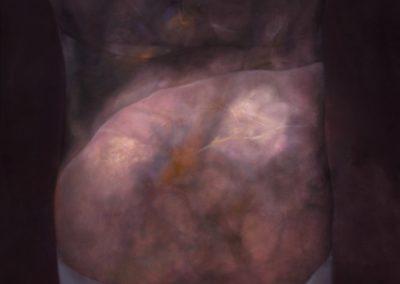 """Torso en gris, 1991, oil on canvas, 60x50"""""""