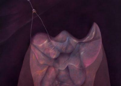 """Vigilia en la montaña, 1991, oil on canvas, 60x50"""""""
