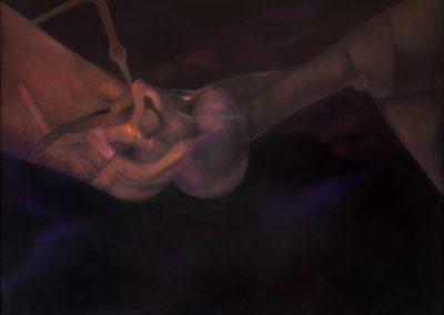 """Mecanismo Cósmico. 1992, oil on canvas, 50x60"""""""