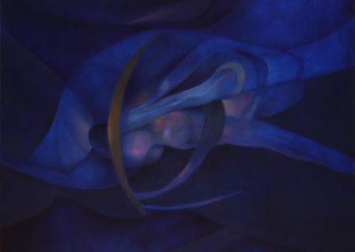 """Errante en la noche, 1993, oil on canvas, 36x40"""""""