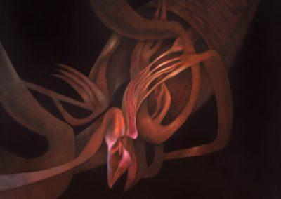 """Raíz de la ausencia, 1993, oil on canvas, 50x54"""""""