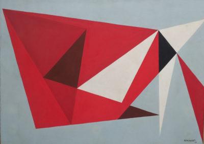 """Composición, 1959, oil on canvas, 28x39"""""""