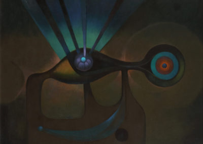 El Pez Sagrado, 1970, oil on canvas, 30x40""