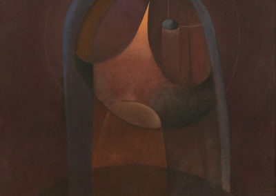 La Virgen, 1974, oil on canvas,40x30""