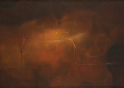"Luz Otoñal, circa 1970s, Oil on Canvas, 12X20"""