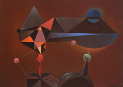 Magnitud Estelar, 1972, Oil on Canvas 30X40_""
