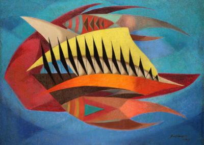 """Motivo del mar, 1953, oil on canvas, 36x48"""""""