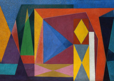 Sin título, 1951, oil on canvas, 28x50""