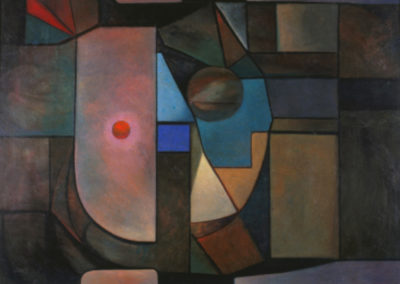 Ventana cosmica, 1966, oil on canvas, 30x40""