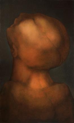 Rafael Soriano - Cabeza de Esclavo, 40X24_, Oil on Canvas,1982